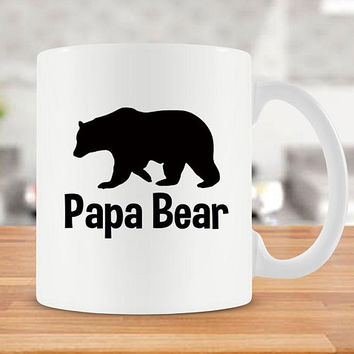 Papa Mug For Dad Gift Idea For Grandpa Papa Bear Mug Funny Coffee Mug Fathers Day Present Grandfather Gift Best Coffee Cup Unique Mug -SA187