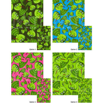 Cute Cartoon King Cobra Snake Patterned iphone and ipad Digital Wallpaper - by Mark Murphy Creative - 4 Options Available