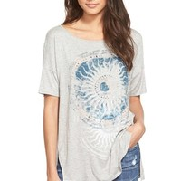 Junior Women's Project Social T 'Moon Medallion' Oversize Tee,