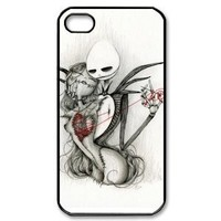 diycellphone nightmare before christmas Iphone 4 4s case Hard Cases , Design your own Apple Iphone4 protect case sold by choleen