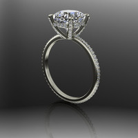 Forever Brilliant Moissanite and Diamond Engagement Ring 2.73 CTW