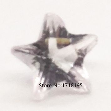 40pcs 5mm Crystal White Star Birthday Stones Floating Charm For Floating Glass Lockets Jewelry LFC_061