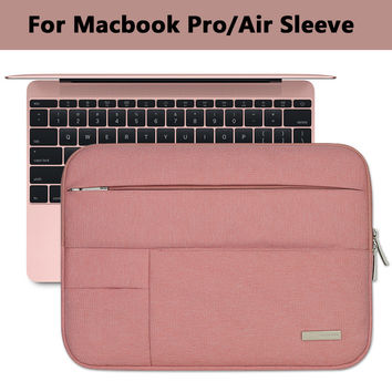 Notebook Sleeve Multi Pocket for Macbook Pro/Air 11 12 13 14 15inch Women Laptop Bag Waterproof Case For Mac 13.3 15.4 Touchbar
