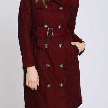 Harriet Rain Style Trench in Red