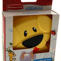 Rubbermaid Blue Ice Reusable Lunch Box Pack Yellow Puppy Dog Set of 2 Non Toxic