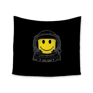 """Digital Carbine """"Happiness"""" Yellow Digital Wall Tapestry"""
