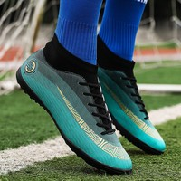 Indoor Turf TF Mens football boots High Ankle Original Spikes Superfly Kids soccer shoe Cleats Children boots for football Shoes