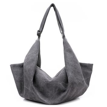 Large Capacity Canvas Hobo Style Shoulder Bag