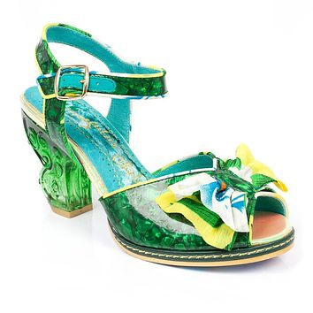 Irregular Choice for Women: Tropical Goddess Green Heels