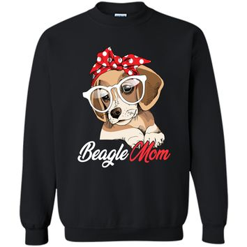 Beagle Mom Shirt for Beagle Dogs Lovers-Mothers Day Gift Printed Crewneck Pullover Sweatshirt 8 oz