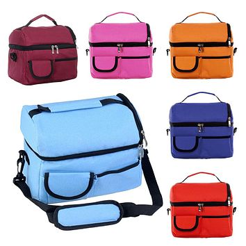 New Double-deck Mommy Bag Baby Diaper Nappy Carrier Handbags Picnic Cooler Ice Pack Lunch Storage Tote Satchel High Quality