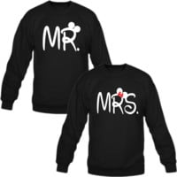 mr and mrs Love couple sweatshirt