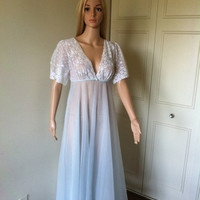 Hello Spring Sale Vintage Baby Blue Nitegown Small