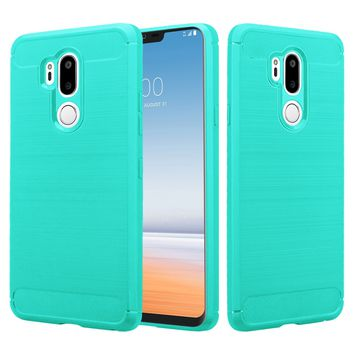 LG G7 ThinQ Case, LM-G710 Case, G7+ ThinQ Case, Slim [Shock Proof] Flexible TPU Cover - Brush Teal