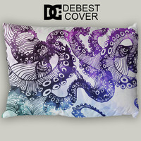 Fashion Pillow Cover Custom Watercolor Octopus Design Home Decorative Pillowcase Pillow Case Cover 20*30