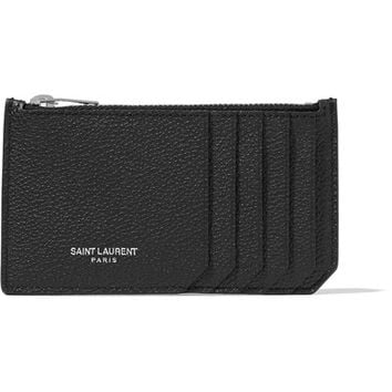 Saint Laurent - Textured-leather cardholder