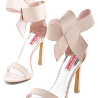 Betsey Johnson Kick it Up a Posh Heel in Petal | Mod Retro Vintage Heels | ModCloth.com