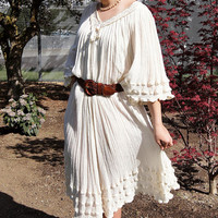 Mexican Gauze Peasant Dress