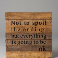 Going To Be Ok Medium Wall Art