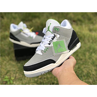 [ Free Shipping ]Nike Air Jordan 3 III Retro Chlorophyll Tinker Smoke Grey 136064-006 Running Shoes