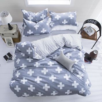 Bedding Set 4pcs/3pcs Duvet Cover Sets Soft Polyester Bed Linen Flat Bed Sheet FREE SHIPPING!
