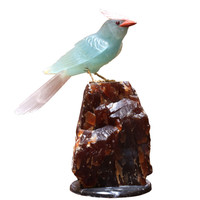 Carved Decorative Stone Bird On Base