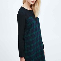 Libertine-Libertine Strong Plaid Front Dress in Black - Urban Outfitters