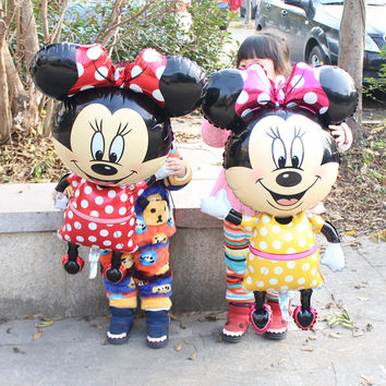 1pcs lot 112*64cm mickey&minnie mouse balloons for party decorations balloons mickey mouse balloon supplies