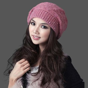 ESBU3C 2017 Mask Gorros Free Shipping Women Winter Hat With Pom Thermal Thicken Knitted Female Double Layer Casual Beanies Cap 22305