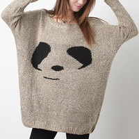 Knitted Panda Sweater