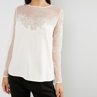 French Connection Islan Lace Blouse at asos.com