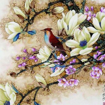 DCCKWJ7 Frameless wall picture painting by numbers canvas painting home decor paint by number Bird pictures unique gift paint by numbers