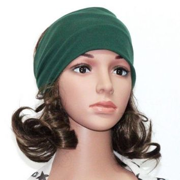 Women Wide Yoga Headband Stretch Hairband Elastic Hair Band Head Wrap Turban Hot