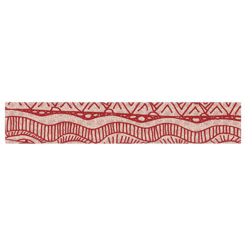 """Catherine Holcombe """"Cranberry and Cream"""" Pattern Table Runner"""