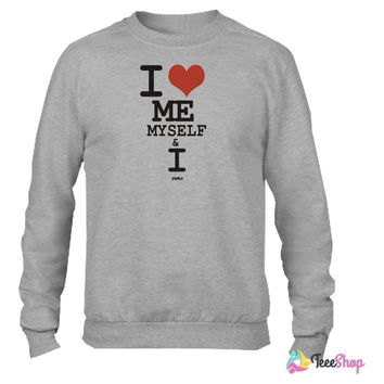 i love me myself and i by wam Crewneck sweatshirtt