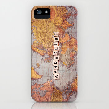 wanderlust map iPhone & iPod Case by Sylvia Cook Photography