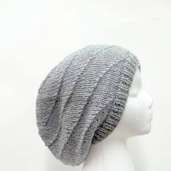 Slouchy beanie hat in swirl pattern 5213