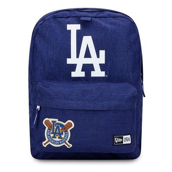 Los Angeles Dodgers New Era Heritage Patch Stadium Backpack Blue