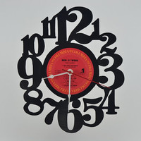 Music Gift Unique Handmade Vinyl Record Clock (artist is Men at Work)