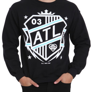 All Time Low ATL Shield Crew Pullover