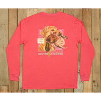 Southern Marsh Blue Gun Dog Collection Tee- Three- Strawberry Fizz