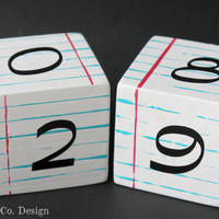 Notebook Paper Desktop Perpetual Calendar Block Set