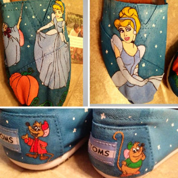 Disney inspired custom hand painted TOMS. Made by WhiskersandWine
