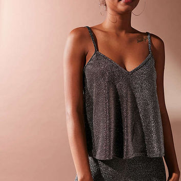 UO Glitter Lurex Swing Cami | Urban Outfitters