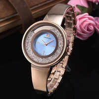 8DESS SWAROVSKI Woman Men Fashion Quartz Movement Wristwatch Watch