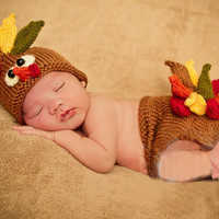 Newborn Baby Girls Boys Crochet Knit Costume Photo Photography Prop = 4457502340
