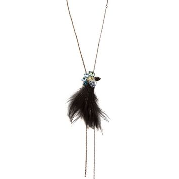 Jewel and feather necklace | Lanvin | MATCHESFASHION.COM UK