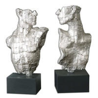 Uttermost Eros Silver Sculptures, Set/2 - 19887