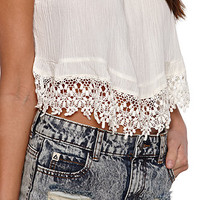 LA Hearts Crochet Trim Tube Top at PacSun.com