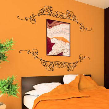Vinyl Wall Decal Sticker Top and Bottom Vines #1185